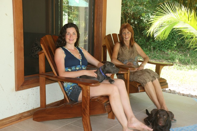 your hosts at el nido cabinas, puerto viejo, Gail and Maitreya